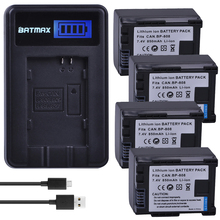 4Pcs BP 808 BP 808 BP808 Camera Rechargeable Battery LCD USB Charger for Canon BP 827