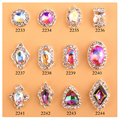 New glitter 8*8mm AB rhinestones 3D fancy flame diamond nail art decoration silver alloy nail jewelry charms 10pcs/lot
