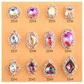 Nuevo brillo 8*8mm AB piedras 3D de fantasía llama diamond nail art decoración de aleación de plata encantos de la joyería 10 unids/lote