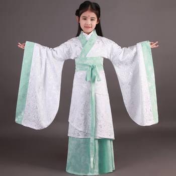 New Design 2017 Chinese Folk Dance National Costume Children Traditional Ancient Chinese Clothing for Kids