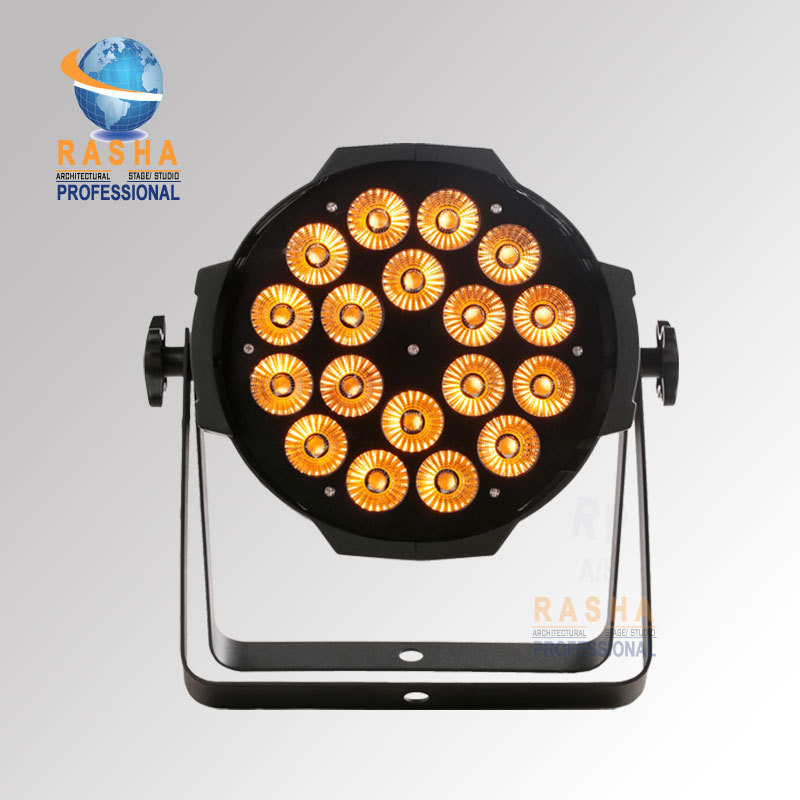 Factory Price ROHS Quad 18*10W 4in1 RGBW/RGBA LED King Par Can Light LED AluminumPar Light For Christimas Party Event