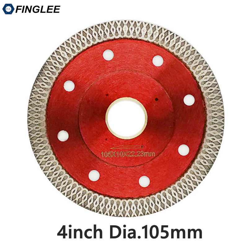 22.23 /105mm Wave Style Diamond Saw Blade for Porcelain tile ceramic Dry cutting aggressive disc marble granite Stone saw blade