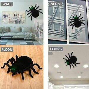 Image 1 - ウォールクライミングクモリモートコントロールのおもちゃ赤外線 RC タランチュラキッドギフト玩具シミュレーション毛皮のような電子クモのためのおもちゃ
