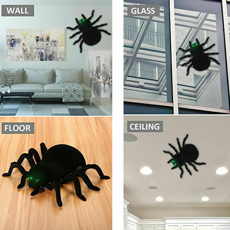 Wall Climbing Spider Remote Control Toys Infrared RC Tarantula Kid Gift Toy Simulation Furry Electronic Spider Toy For Kids Boys