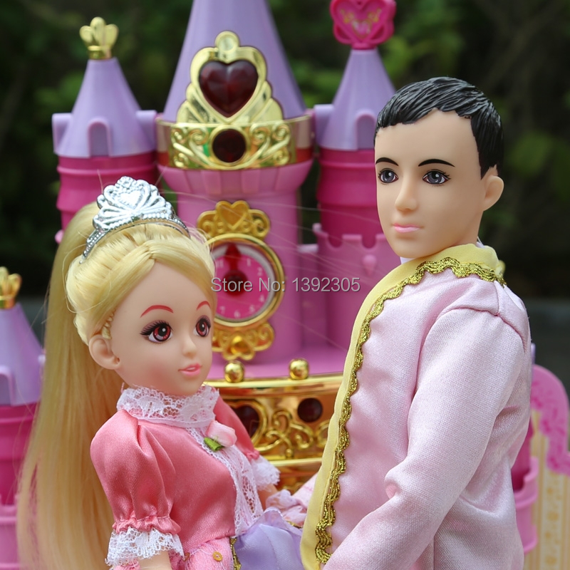 Lelia dolls childhood baby princess castle with the prince's ...