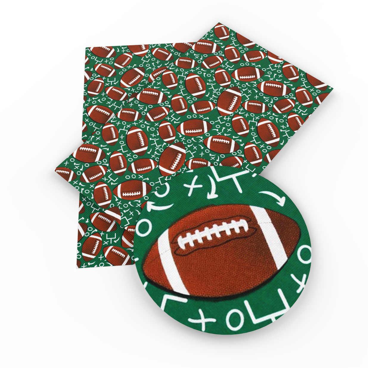 David Angie 20*34cm deporte fútbol baloncesto piel sintética falsa tela de Knotbow bolsas decoración artesanía 1Yc3574