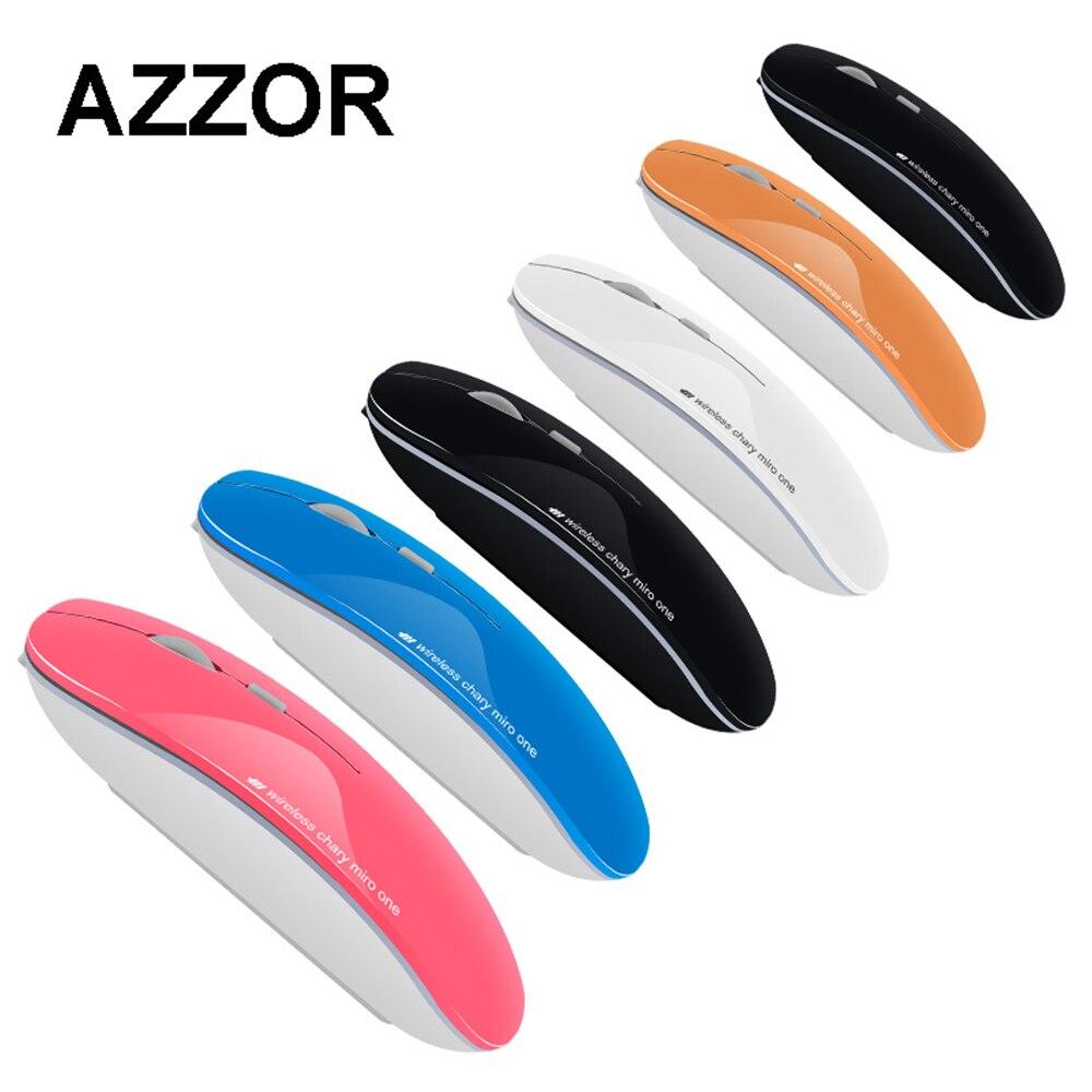 AZZOR N5 Drahtlose Wiederaufladbare Stille Stumm Maus Chargable Dünne Sparen Strom Gamer Mäuse für Notebook Desktop Laptop