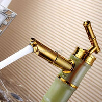 High Quality Classic Antique Bamboo Style Deck Mount Basin Mixer Taps Rustic Vanity Sink Faucet Fixture With Brass Single Handle