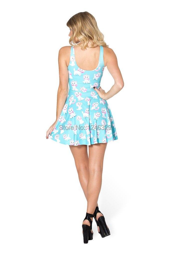 2f6bdebd1f3 Women Summer Dress 2014 New Arrival Black Milk The Aristocats Marie Dress  Skater Dress Print Sexy Dress for Women 2014 Fashion-in Dresses from Women s  ...