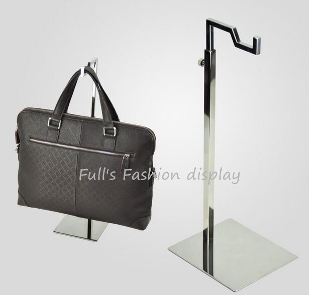 5pcs New Style Mirror Stainless Steel Man Handbag Holder Stand Hook Bag Showing Display Rack Free Shipping In Storage Holders Racks From