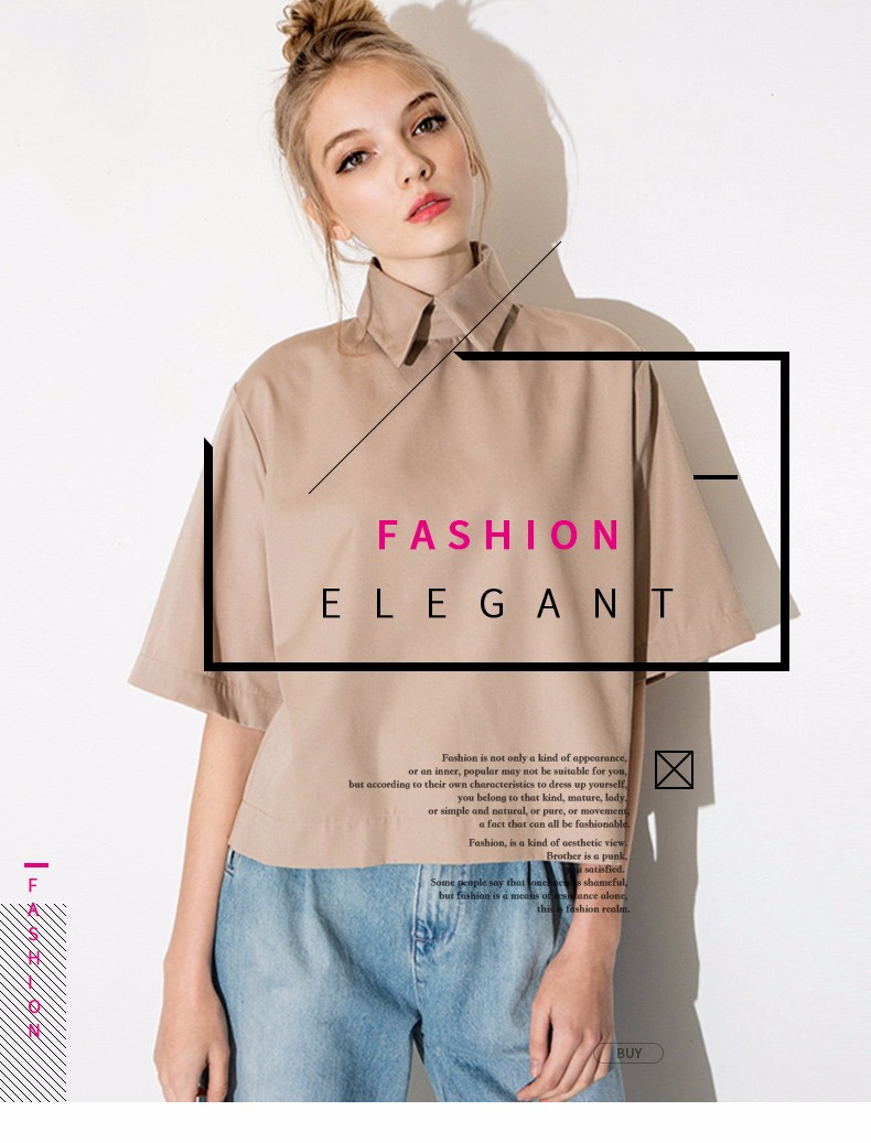HTB16x8ILpXXXXX1XVXXq6xXFXXXG - Style shirt fashion turn down collar blouse slim women shirt