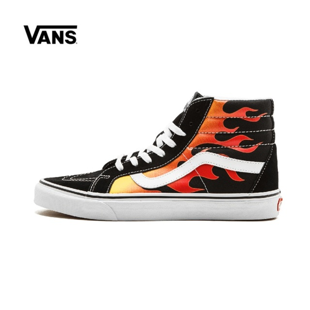 chaussure vans enfant rouge flammes