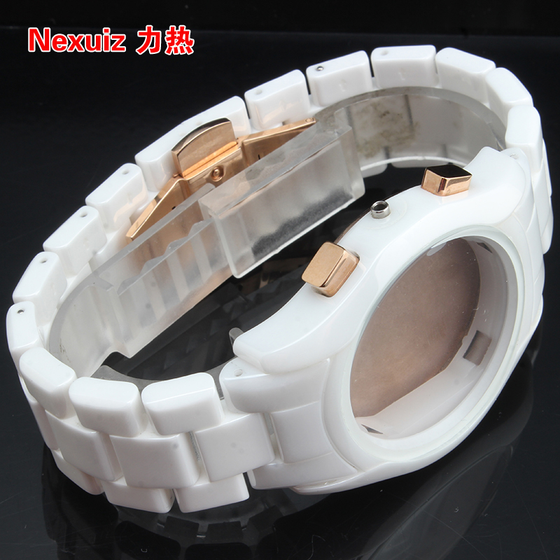 22mm NEW Watchbands,High Quality Ceramic Watchband  White Diamond Watch for AR1416 men watches Bracelet  WATCHBAND watchbands 20mm 23mm high quality rubber watchband diamond watch fit ar5890 ar5905 ar5919 ar5920 watches bracelet