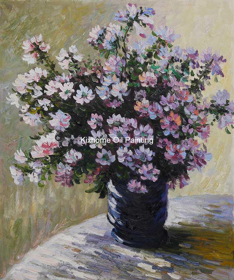 Vase of flowers by monet reproduction oil paintings famous for Quadri fiori olio