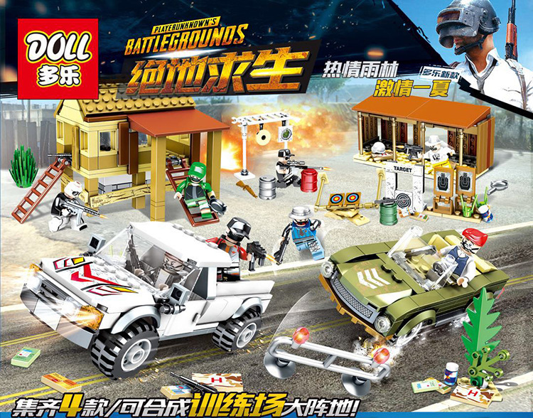 PUBG Game Action Figure Building Blocks Winner Winner Chicken Dinner Military Soldier Army Weapon LegoINGly Children Toys D212 цена 2017