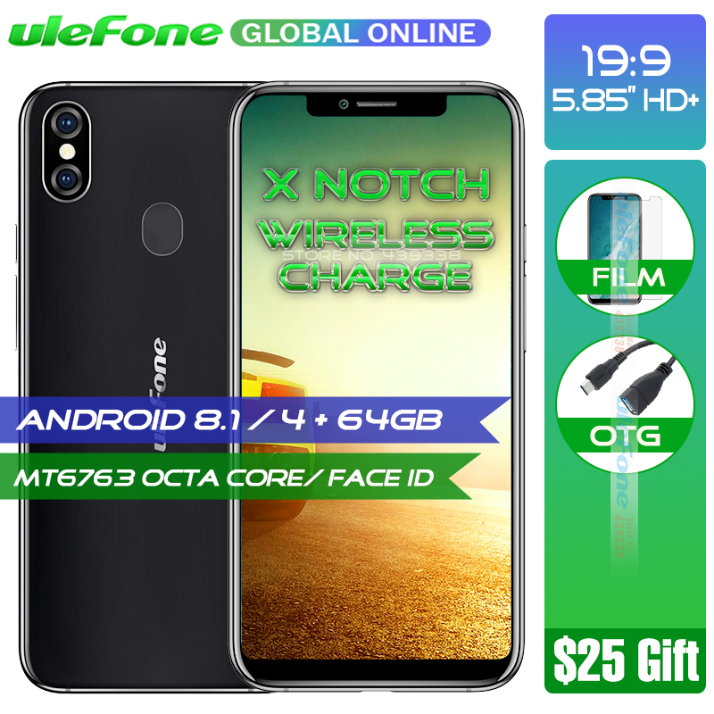 Ulefone X Smartphone 5 85 HD MT6763 Octa Core Android 8 1 4GB 64GB 16MP Dual