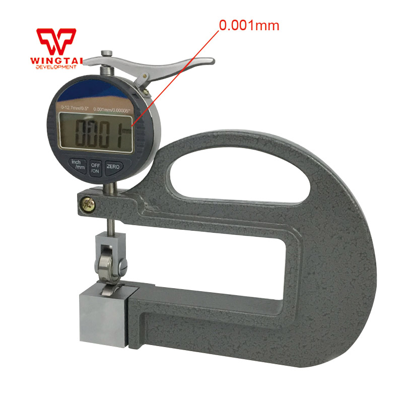 0-12.7mm 0.001mm Digital Thickness Gauge With Wheel For Leather