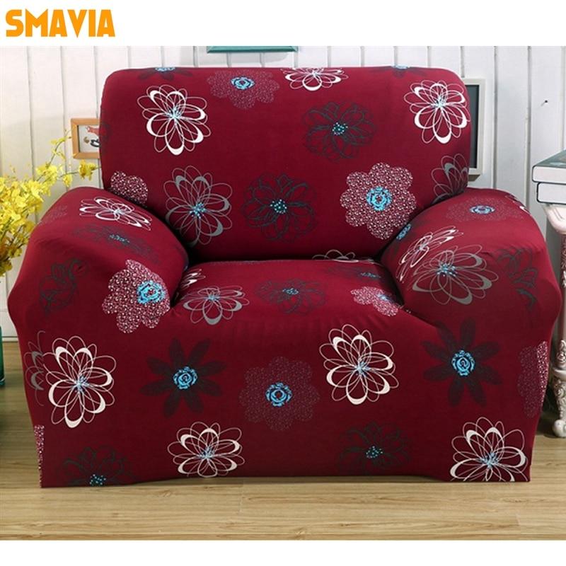 SMAVIA All-inclusive Sofa Cover Elasticity Stretch Anti-slip Furniture Slipcovers Single Chair Loveseat Recliner Couch Cover 1pc