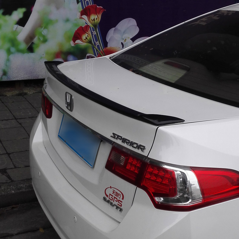 For Honda Spirior Acura TSX Spoiler 2009 2010 2011 2012 2013 Car Tail Wing Decoration ABS Plastic Unpainted Rear Trunk Spoiler acura tsx