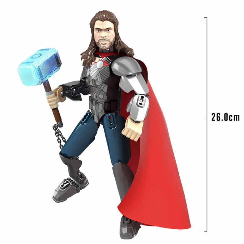 Marvel Супермен Мститель Тор Железный человек Капитан Америка супер герой фигурка Коллекционная кукла строительные блоки игрушка