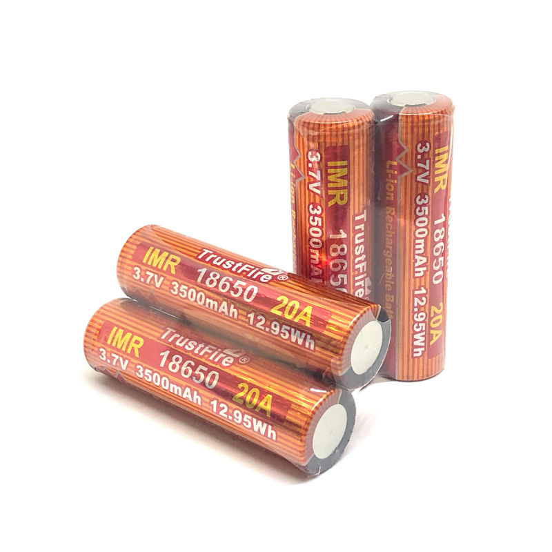 10pcs lot TrustFire IMR 18650 20A 3 7V 3500mAh 12 95Wh High Rate Rechargeable Lithium Battery For E cigarette LED Flashlights in Rechargeable Batteries from Consumer Electronics