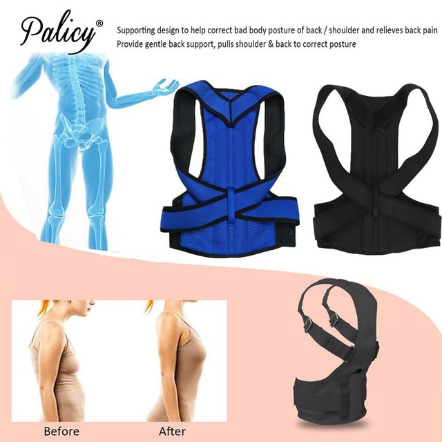 Palicy Back Posture Corrector Shoulder Lumbar Brace Spine Support Belt Adjustable Adult Correction Body Shaper For Men Women