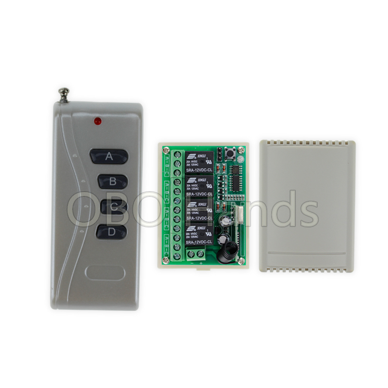 New arrival 433MHz  12V 100m wireless remote control switch with receiver+shell for electric door lock can control 4 doors-SB14 wireless 315 433mhz 12v 4ch remote control switch receiver shell for door lock can control 4 doors up to 50m for door lock sl34
