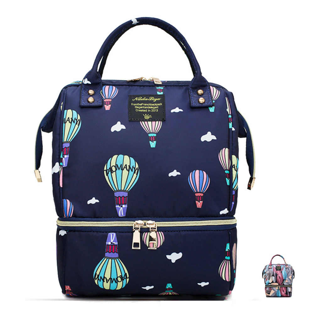 LXXU Mummy Diaper Bag Printing Fashion Sleek Design Prominent Youthfulness Anti Scratch and Wear Baby Multi Function Mom Package