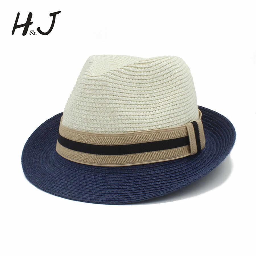 1ee8acf3c9b Fashion Summer Women Men Toquilla Straw Sun Hat Elegant Queen Homburg  Panama Hat Gentleman Dad Godfather