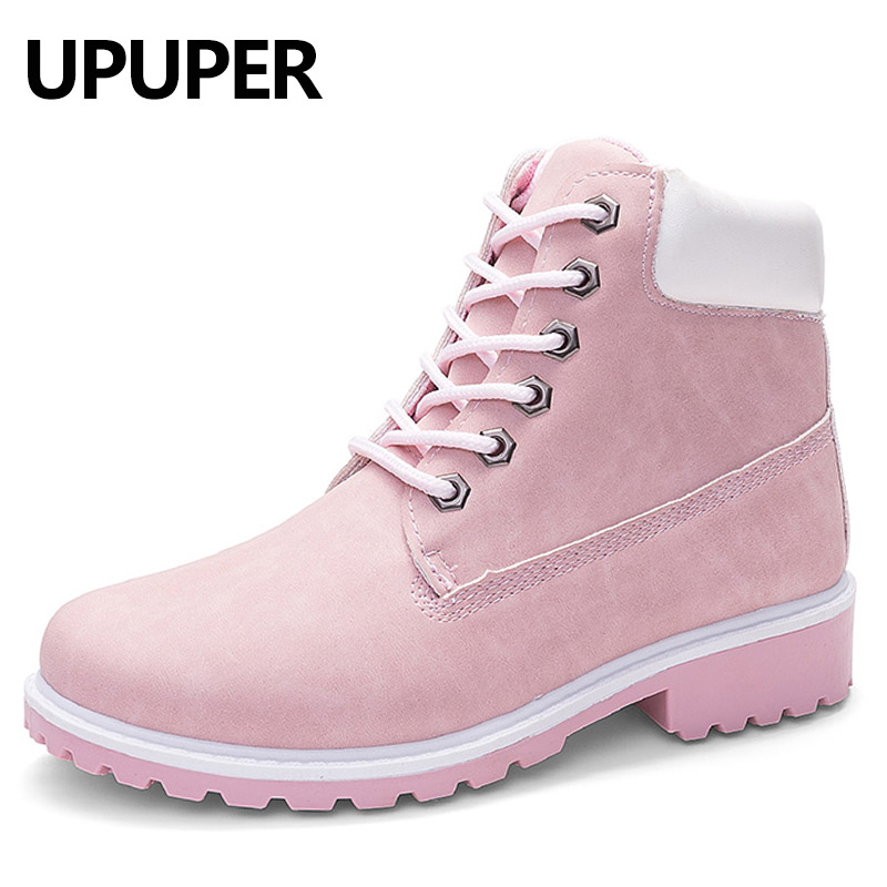2018 Autumn Winter Snow Boots Women Lace-up Ankle Boots For Women Girls Fashion Winter Shoes Women Big Size:36-41 botas mujer цена 2017