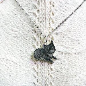 Image 2 - Индивидуальное изготовление на заказ, фото, драгоценности, ожерелье педант DIY с собакой, Очаровательное ожерелье с животными, ювелирные изделия