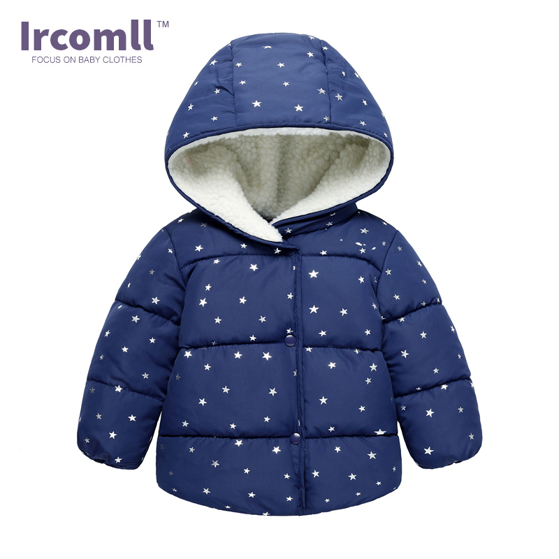 2017 Winter Kids Clothes Cotton-padded Hooded Lining Berber Fleece Thick Jacket For Girls Boys Cotton Coat  Kids Outerwear children winter coats jacket baby boys warm outerwear thickening outdoors kids snow proof coat parkas cotton padded clothes