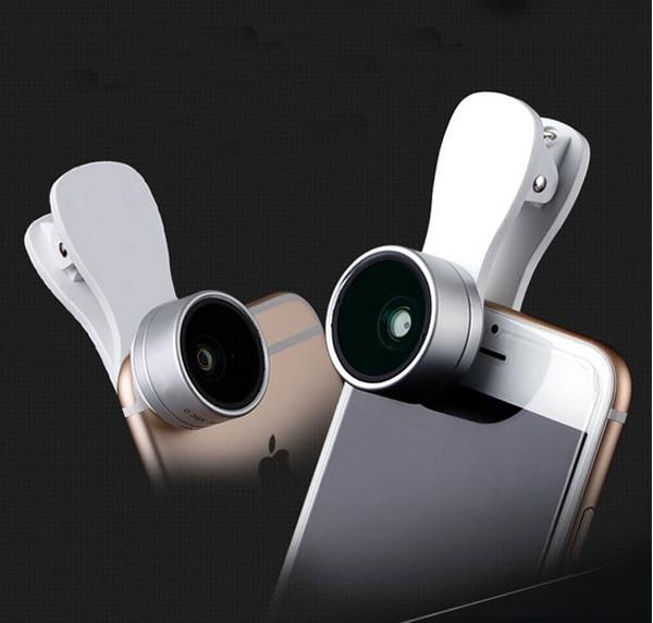 Clip Mobile Phone Photo Lens Fish eye+macro lens+wide angle lens For Lenovo Vibe C,C2 k10a40,C2 Power,Lenovo A Plus A1010a20