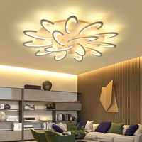 NEO Gleam Modern Led Ceiling Lights For Living Room Bedroom White Color Acrylic Home Dec Surface