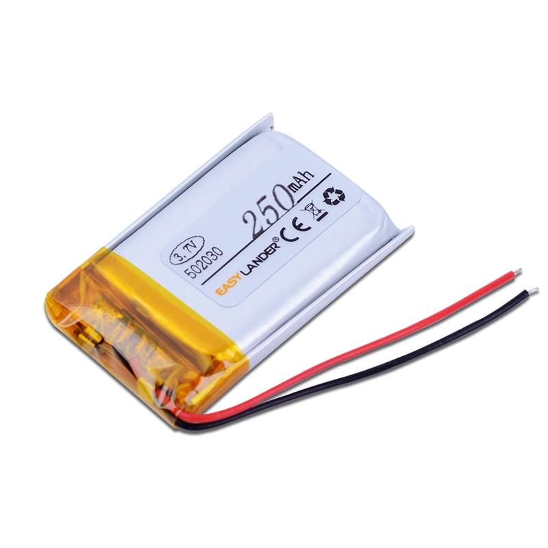502030 3.7V 250mAh Rechargeable li Polymer Li-ion Battery For USB Lighters bluetooth headset mouse Bracelet Wrist Watch 052030 цена