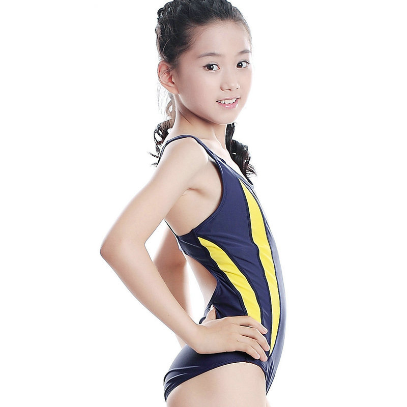 35ef164ce4a42 10 18 Years New Young Girls Professional Sports Swimwear Pretty Students  Summer Holiday One Pieces Swimsuit roupa infantil-in One-Piece Suits from  Sports ...