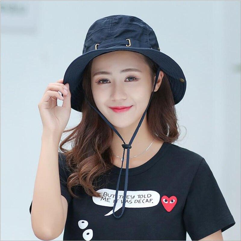 cb5c4a5c90d BINGYUANHAOXUAN New Men Bucket Hats Women Hip hop Caps Women Summer Beach  Sun Hat Men Fisherman Hat Casual Fedora
