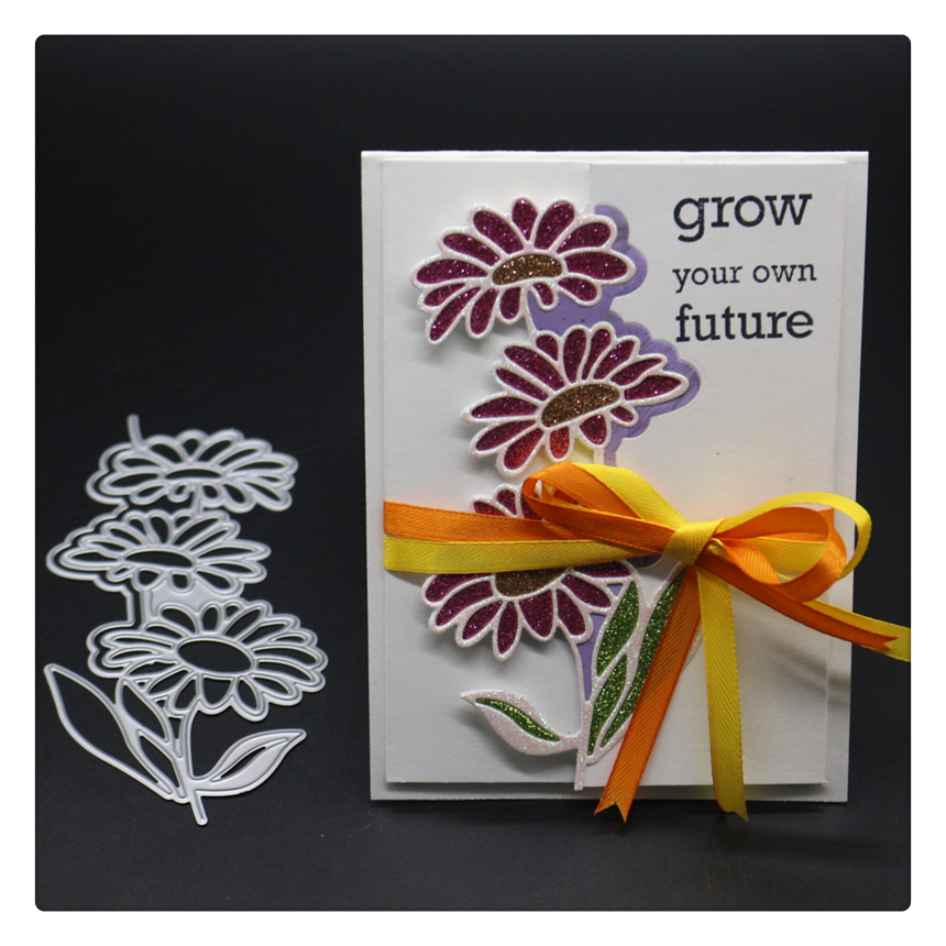 1689 Flowers Scrapbook Die Cut Metal Cutting Dies For Scrapbooking Stencils DIY Album Cards Decoration Embossing Folder Die Cut in Cutting Dies from Home Garden