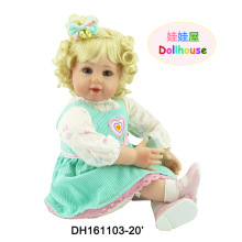 22″ Girl Brinquedo Reborn Dolls for Girls with Blue Eyes Blonde Hair Toddler Baby Doll of Christmas Gift Toys for Children