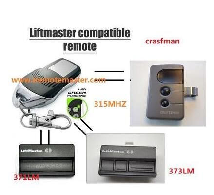 Replacement remote for LiftMaster 371LM Garage Door Opener 372LM 373LM Remote control 315mhz