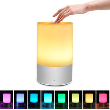 Linkax Smart Bedside Lamp Touch Sensor LED Night Light RGB Dimmable Atmosphere LED Lamp Intelligent Nightlight For Children