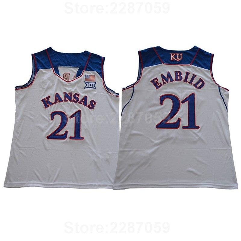 a41ff6d2818 ... shopping ediwallen kansas jayhawks college jerseys cheap basketball 21  joel embiid jersey team blue white away