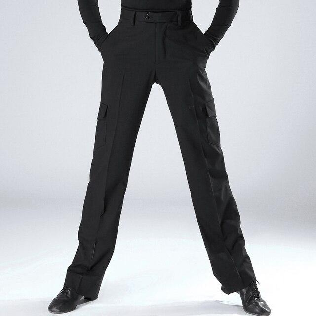 New Ballroom Dance Pants Men Latin Square Pants For Women Black Wide Leg Trousers Tango Clothes Performance Practice Wear DN1286