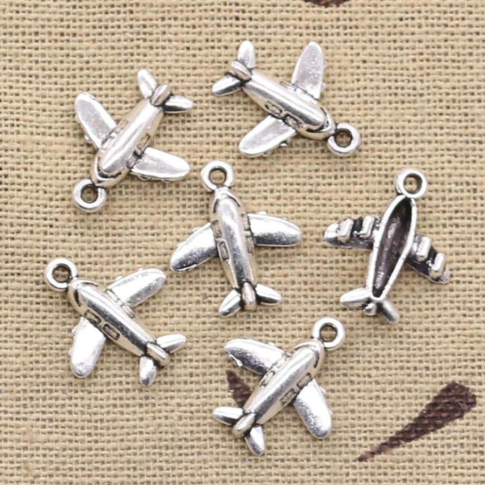 Methodisch 20 Stücke Charme Liebhaber Flugzeug Flugzeug 15x14mm Antike Vintage Tibetischen Silber Diy Armband Halskette Der Anhänger Fit