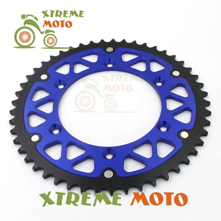 52T CNC Rear Chain Sprocket For Yamaha YZ125 250F 250 400F 426F 450F  WR250F 400F 426F 450F TTR230 Motocross Enduro Dirt Bike