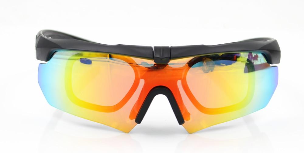 Gafas militares polarizadas para ciclismo TR90 3 5 lentes balístico ... 24a4fdb3cdec