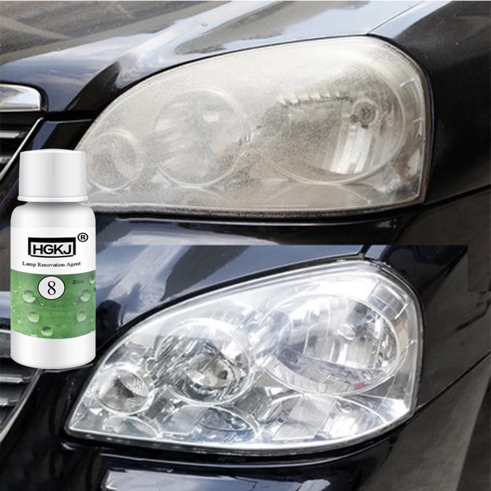 20/50ML Car Polish Restoration Kit Headlight Cleaning Fluid Repair Refurbishment Fluid Detergent Car Light Cleaner Car Styling