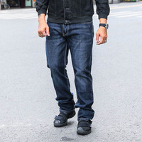 Men S Relaxed Straight Jeans Great Look Cool Shape Denim Pant Oversize Clothing Big Tough Men