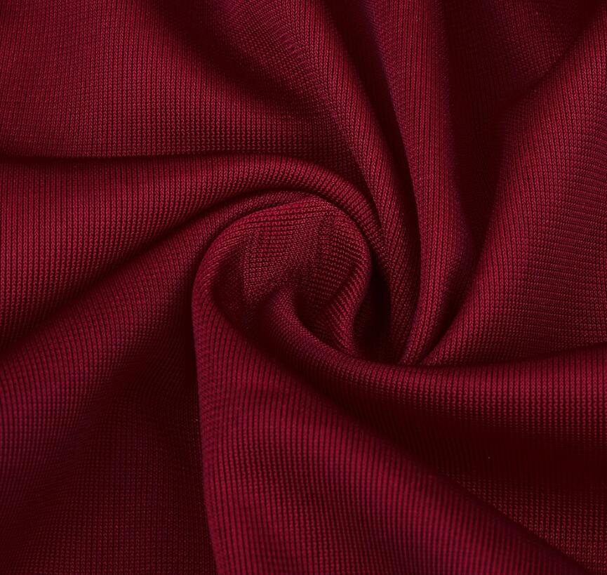 Elegant Lantern Sleeve Deep V Neck Cross Velvet Bodycon Dress 7