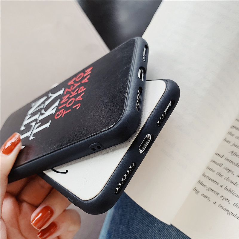 Luxury Italy VLTN Valentino case for iphone X XS MAX XR 8 7 6 6s plus soft leather silicon coque Classic logo fundas 8plus 7plus in Fitted Cases from Cellphones Telecommunications